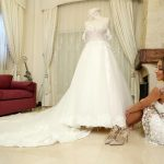 Bride's wedding gown