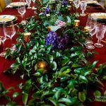 Table runner made from beautiful greenery