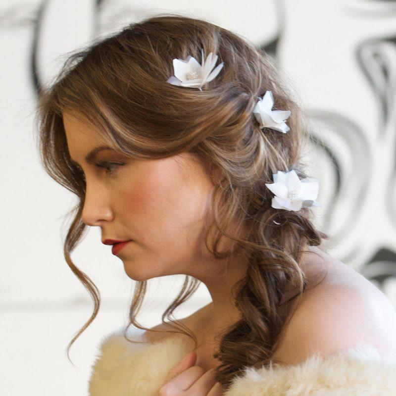 Loose floral headpieces